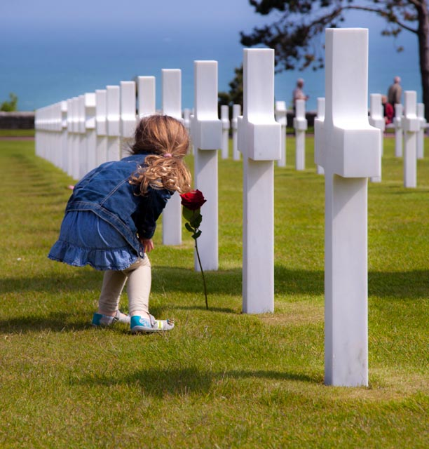 Cemetary at Normandy Beach France by Photographer Steven Hodel