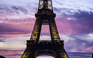 Eiffel Tower in Paris at Sunset - Steven Hodel Photography