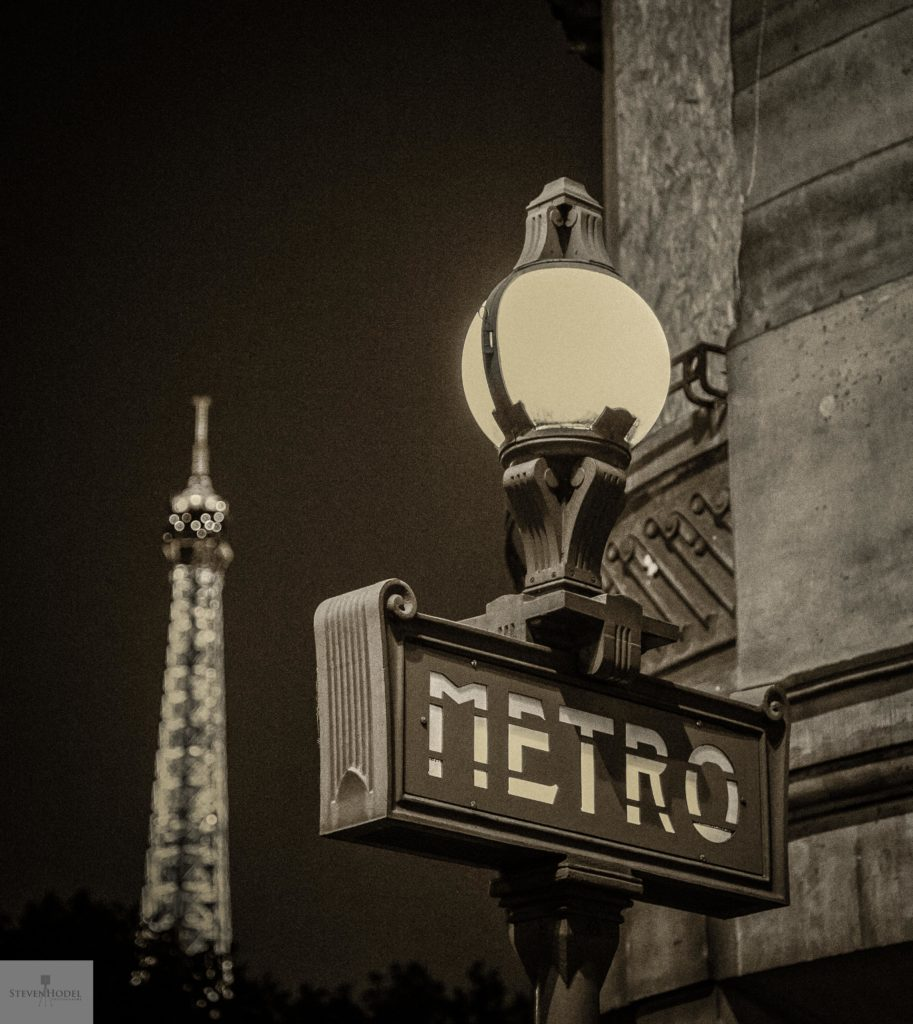 Steven Hodel Photography - Metro Print, Paris Photography
